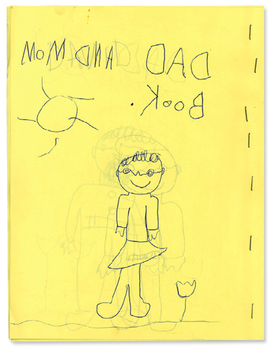 Leslie's book at age 5