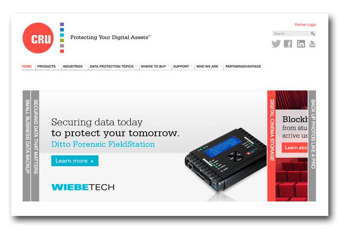 Web site design for CRU