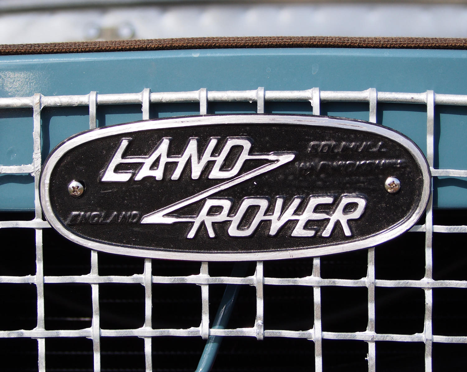 British typography - Land Rover